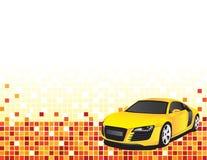 汽车黄色 库存图片