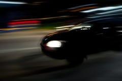 汽车黑暗加速 图库摄影
