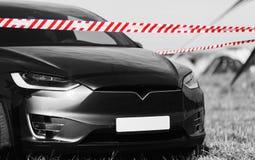 汽车黑白色照片  免版税库存照片