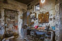 汽车维修车间在伊拉克商店在伊拉克 图库摄影