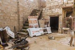汽车维修车间在伊拉克商店在伊拉克 库存照片