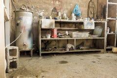 汽车维修车间在伊拉克商店在伊拉克 库存图片