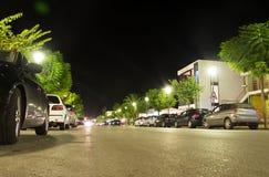 汽车巴黎停放的街道 图库摄影