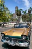 汽车经典之作古巴 免版税库存图片