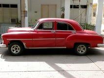 汽车经典红色 免版税图库摄影