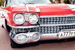 汽车经典老红色 库存照片