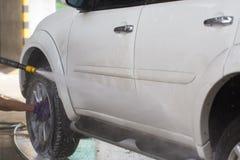 汽车洁净洗涤关闭的概念 库存照片