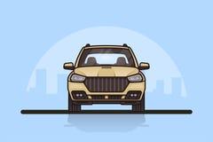 汽车 前方视图 免版税图库摄影