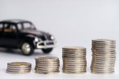 汽车财务金钱堆 免版税库存图片