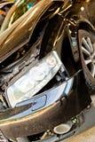 汽车以在事故以后的身体损伤 库存图片