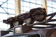 汽车 在现代汽车的放映机车灯 免版税库存图片