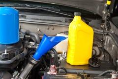 汽车更改维护油 免版税库存图片