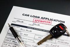 汽车贷款应用批准了004 库存照片