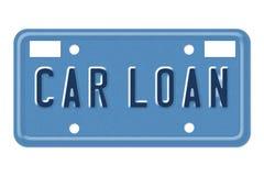 汽车贷款装饰性牌照 免版税库存图片