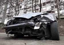 汽车击毁 免版税库存图片