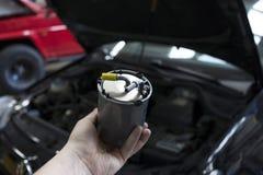 汽车柴油过滤器 库存照片