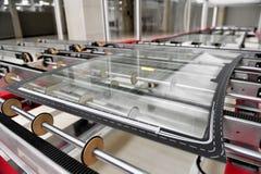 汽车玻璃工厂 免版税库存图片