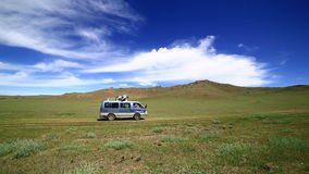 汽车去的美丽蒙古越野 影视素材