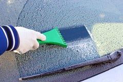汽车冻结的视窗 免版税库存图片