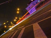 汽车轻的轨道在广州 免版税库存照片