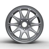 汽车3D例证的钢盘 库存照片
