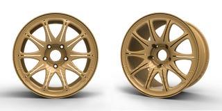 汽车3D例证的钢盘 免版税库存照片