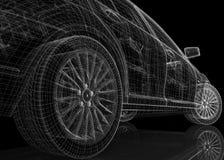 汽车3D模型 图库摄影