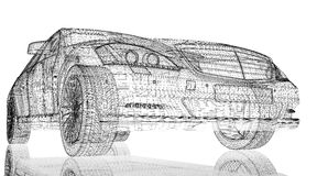 汽车3D模型 免版税库存图片