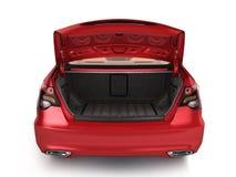 汽车3d的空的开放后车箱回报 库存例证