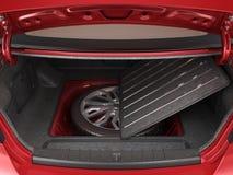 汽车3d的空的开放后车箱回报 向量例证