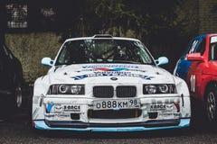 汽车BMW 3系列,赛跑motorsport的项目漂泊 库存照片