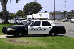 汽车cartoonish图象查出的警察样式白色 库存照片