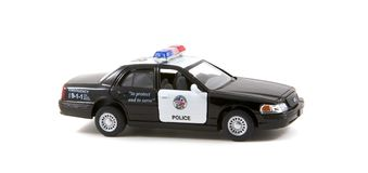 汽车cartoonish图象查出的警察样式白色 免版税库存照片