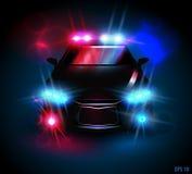 汽车cartoonish图象查出的警察样式白色 免版税图库摄影