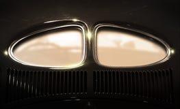 汽车copyspace视窗 免版税库存照片