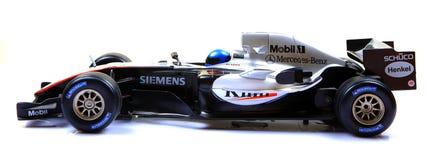 汽车f1 mclaren赛跑侧视图 库存图片