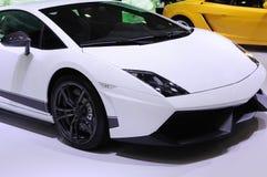 汽车lamborghini体育运动白色 免版税图库摄影