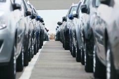 汽车parc 免版税库存图片