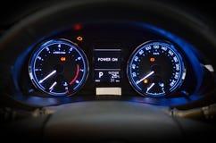 汽车speedmeter 免版税库存照片