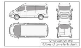 汽车van drawing概述没转换成对象 库存图片