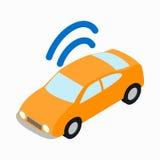 汽车Wi-Fi象,等量3d样式 库存图片