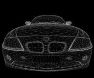 汽车wireframe 免版税库存图片