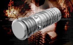 汽轮机喷气机引擎推进力刀片 免版税图库摄影