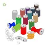 汽水罐与回收救球的标志世界 免版税库存图片