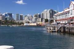 沃什海湾和达令港视图 免版税库存照片