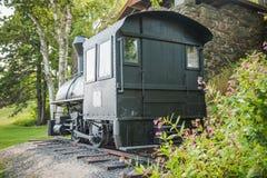 沃尔坎火山蒸汽机车复制品 免版税库存照片