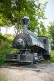 沃尔坎火山蒸汽机车复制品 库存照片