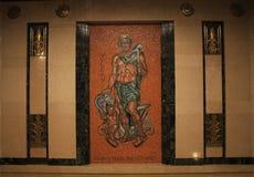沃尔坎火山马赛克,电梯大厅,俄亥俄司法中心,俄亥俄,哥伦布俄亥俄的最高法院 库存照片