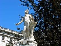 沃尔夫冈・阿马德乌・莫扎特雕塑  免版税库存图片