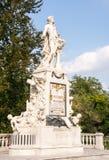 沃尔夫冈・阿马德乌・莫扎特雕塑  免版税库存照片